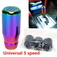 5 speed Universal Car Aluminum Gear Shifter Shift Knob for Manual Neo Chrome