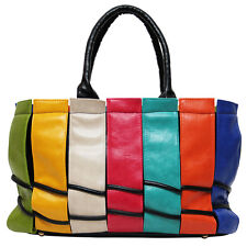 **FACTORY SECOND** LEATHER HANDBAG SHOULDER PINK BLUE GREEN WHITE ORANGE YELLOW