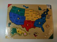 Lift & Learn USA Map Puzzle FREE SHIPPING Toys Games vintage 1990s brand new