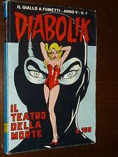 DIABOLIK NUMERO 7 ANNO V 1966 - EDICOLA !!