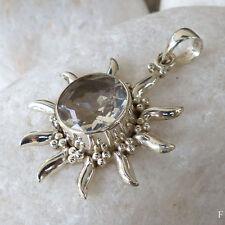 Unbehandelte Runde Echte Edelstein-Halsketten & -Anhänger mit Bergkristall