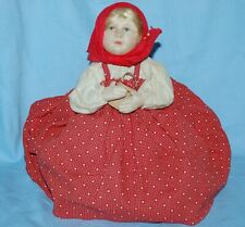 Antiguo Vintage Muñeca-Little Red Riding Hood-tipo Cubre Tetera