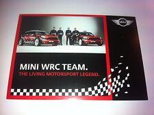 CP POSTCARD CARTOLINA MINI COOPER WRC SORDO RALLY RALLYE WRC 2011