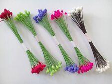 4 Bundles of 100 pcs. Artificial Flower Pollen with wire stem /Craft/  PL_01
