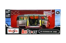 Maisto AllStars Volkswagen Van Samba Taxi 1/25 Diecast Car 31364SILBK