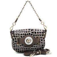 New Anais Gvani Women Handbag Faux Leather Purse Crossbody Bag Baguette Coffee