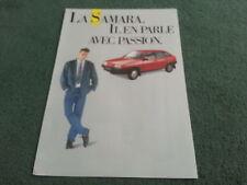 Dec 1987 / 1988 LADA SAMARA 3 & 5 Door - BELGIUM / BELGIAN FOLDER BROCHURE