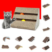 Assorted Corrugated Cardboard Cat Kitten Scratcher Scratch Board Pad Bed Toy