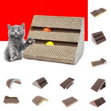 Assorted Corrugated Cardboard Cat Kitten Scratcher Scratch Board Pad Bed Toy