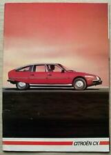 CITROEN CX CAR RANGE Sales Brochure 1984 #K1900 DTR TURBO GTi PRESTIGE Pallas +