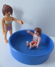 Playmobil maman, petite fille & Pataugeoire Nouveau dollshouse/Holiday figures
