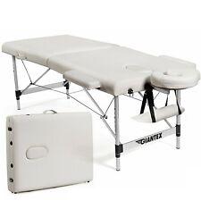 "84""L Portable Massage Table Adjustable Facial Salon Spa Bed w/ Carry Case White"