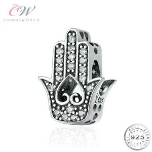 Hamsa Hand Charm Genuine 925 Sterling Silver 💞 Good Fortune / Luck Gift