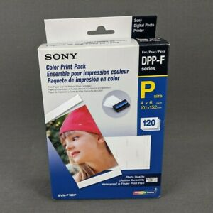 Sony SVM-F120P Color Print Pack DPP-F 120 Post Card Prints New in Box