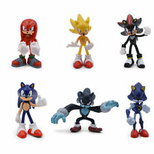 Sonic The Hedgehog Knuckles Shadow 6 PCS Action Figure Set Topper Toy figure