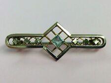 Stile Antico murrle Bennett laminati oro & Blue vetro Spilla Pin 1900