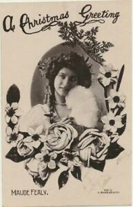 ca1907 Theater Actress MAUDE FEALY Lovely Lady RPPC postcard Rapid Photo
