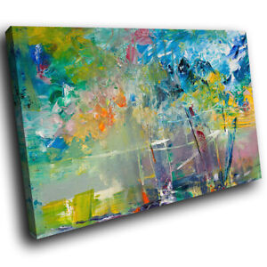 Colourful Retro Cool Abstract Canvas Wall Art Large Picture Prints