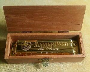 Hohner Marine Band 100th Centenary Gold Plated Harmonica