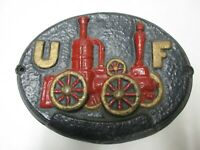 U F United Fire Insurance Plaque Vintage Reproduction Aluminum