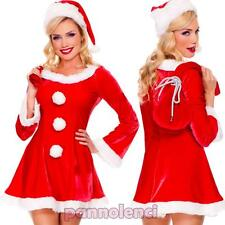 Costume carnevale set abito BABBA Babbo NATALE donna travestimento DL-2024