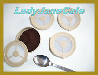 4 Permanent Refillable SENSEO Coffee Filter Pods: ECOPAD UK for Philips Machines