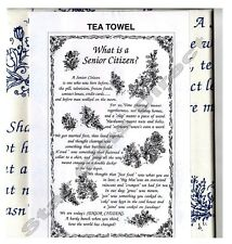 NEW TEA TOWEL WHAT IS A SENIOR CITIZEN? Funny Kitchen *SENT BY RM 1ST CLASS POST