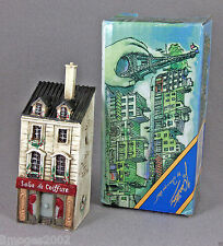 NIB J CARLTON BY GAULT HAND PAINTED FRENCH MINIATURE SALON DE COIFFURE BUILDING