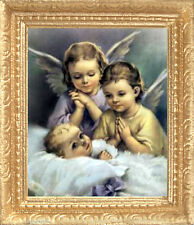 ANGEL BLESSED BABY  Dollhouse Picture - Framed Miniature Art - MADE IN AMERICA