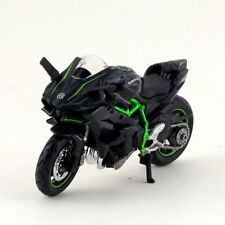 1:18 Diecast Kawasaki H2R Motorcylce Autobike with Base Model Car Toy Gift