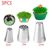 Stainless Steel Piping Pastry Icing Nozzles Grass Fury Cake Decorating Tip New