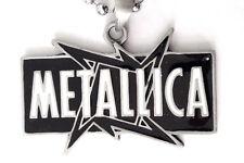 METALLICA HEAVY METAL Blk & WHT PENDANT MENS BOYS NECKLACE CHAIN    BPC 019