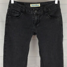 Paris Blues Ultra Low Rise Skinny Super Stretchy Womens Size 1 VTG Black Jeans