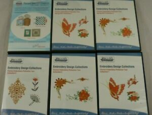 Lot of 6 Floriani Embroidery CDs: Embroidery Designs Collections & Sew EZ