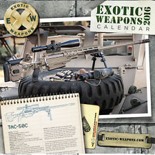2016 Exotic Weapons Tactical Calendar 13 Months of Sexy Guns! M4 SIG COLT 1911