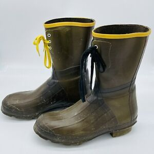 LaCrosse Outdoorsman Rubber Boots Insulated Waterproof Mens Size 12 Green EUC
