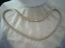 geschmeidiges vintage collier-netzkette 925silber.45cm.lang