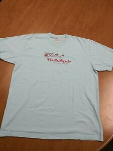 Vanilla Bicycles Portland Men's T-Shirt XL Baby Blue Short Sleeve Pre-Owned