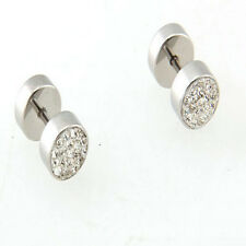 Alloy Diamond Stud Earrings Silver Earrings Ear Bone Earring Brief Paragraph