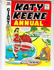 Katy Keene Annual 5 VG+ (4.5) 1959 Very Funny stuff! Archie Comics! Woggin!