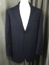 RARE Messori Super 100s Black Wool Suit Made in Italy C40 W34 L30 EXCELLENT COND