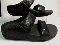 fitflop Womens Sandals Size 7 Black Sparkle #B