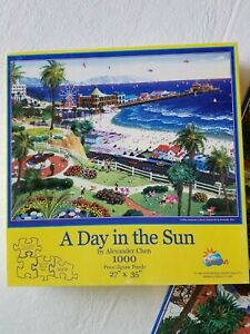 SunsOut 1000 Piece A Day in the Sun by Alexander Chen Large Format Complete