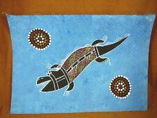 AUS-19 Crocodile blue Australian Native Aboriginal PAINTING Artwork T Morgan