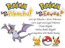 6IV Aerodactyl Pokemon Lets go Pikachu Lets go Eevee Guide Batle Ready Legit