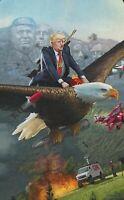 Pro Trump Bald Eagle Anti-CNN Funny Sticker  Pro USA MAGA Mount Trumpmore!