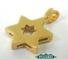 14k Yellow Gold Star of David Designer Pendant