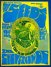 Psychedelic poster the Seeds SALZER Santa Barbara 1967 Chocolate Watch Band
