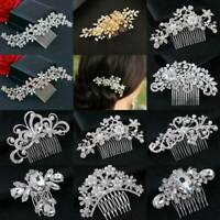 Bridal Wedding Diamante Crystal Rhinestone Flower Hair Clip Comb Pin Headband