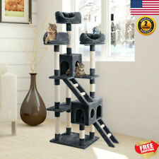 """70.3"""" Multi-Tier Cat Tree Condo Tower Furniture Scratch Post Kitten Play House"""